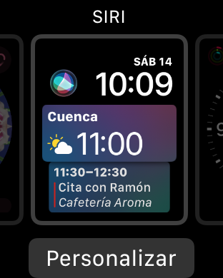 interfaz del Apple Watch 3: así es watchOS 4