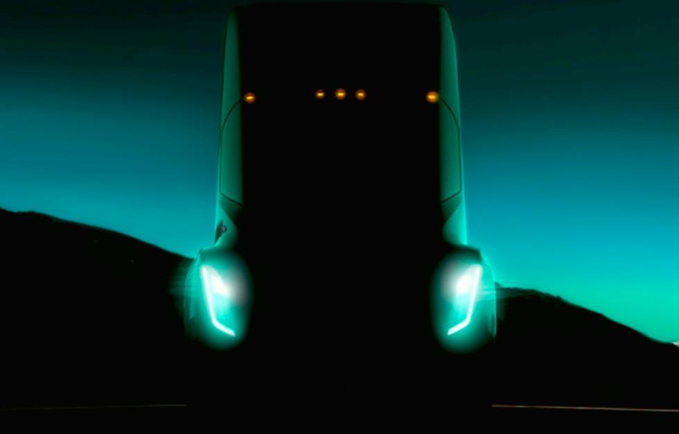 Imagen de presentación del camión de Tesla