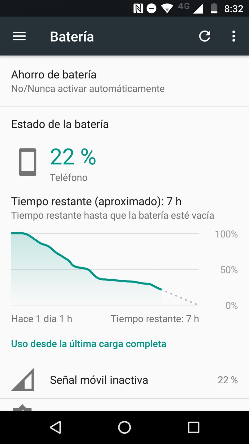 Batería del Moto Z2 Force: consumo y autonomía