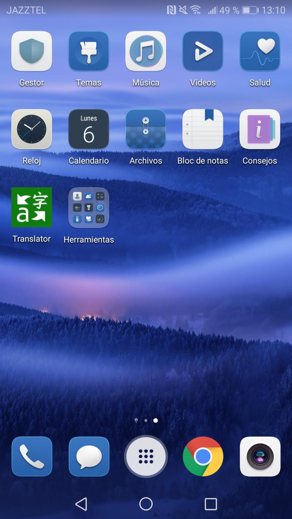 Interfaz del Huawei Mate 10
