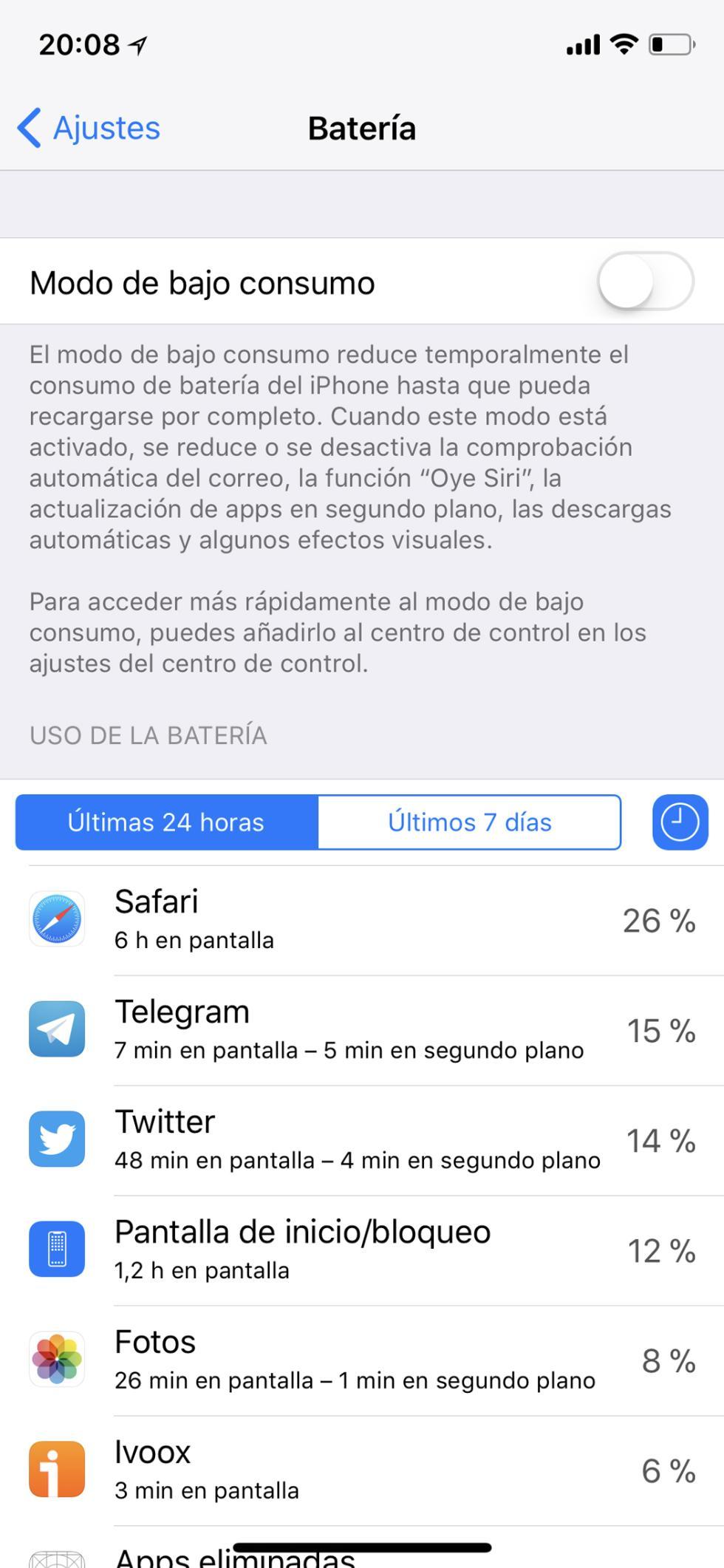 Batería del iPhone X: consumo, autonomía y opciones de ahorro