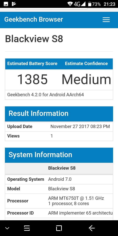 benchmark blackview s8
