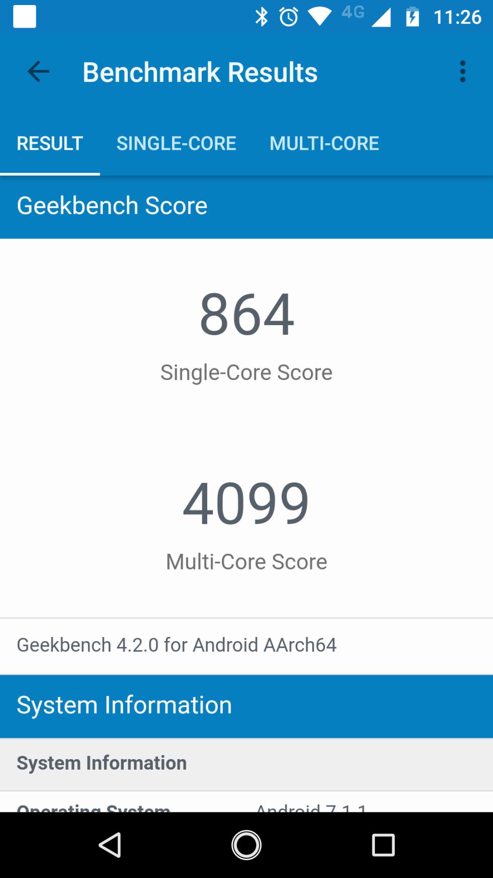 Benchmark del Motorola Moto X4