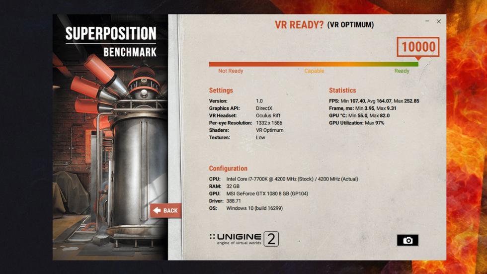 Resultado de VR Superposition de Lenovo Legion Y920 Tower