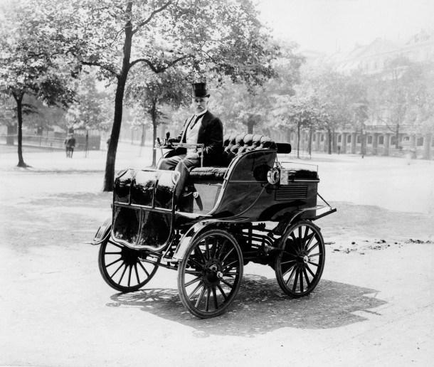 Coche eléctrico de Roger Wallace en 1899