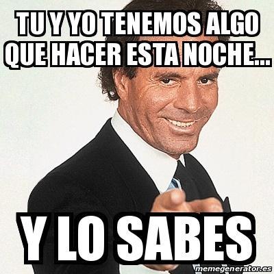 Julio Iglesias por la noche