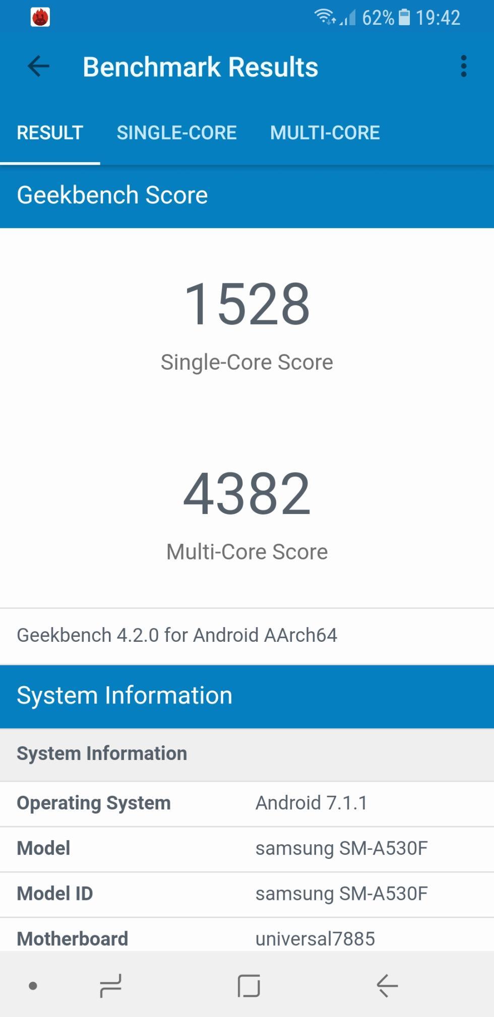 Galaxy A8 (2018) - pruebas de rendimiento