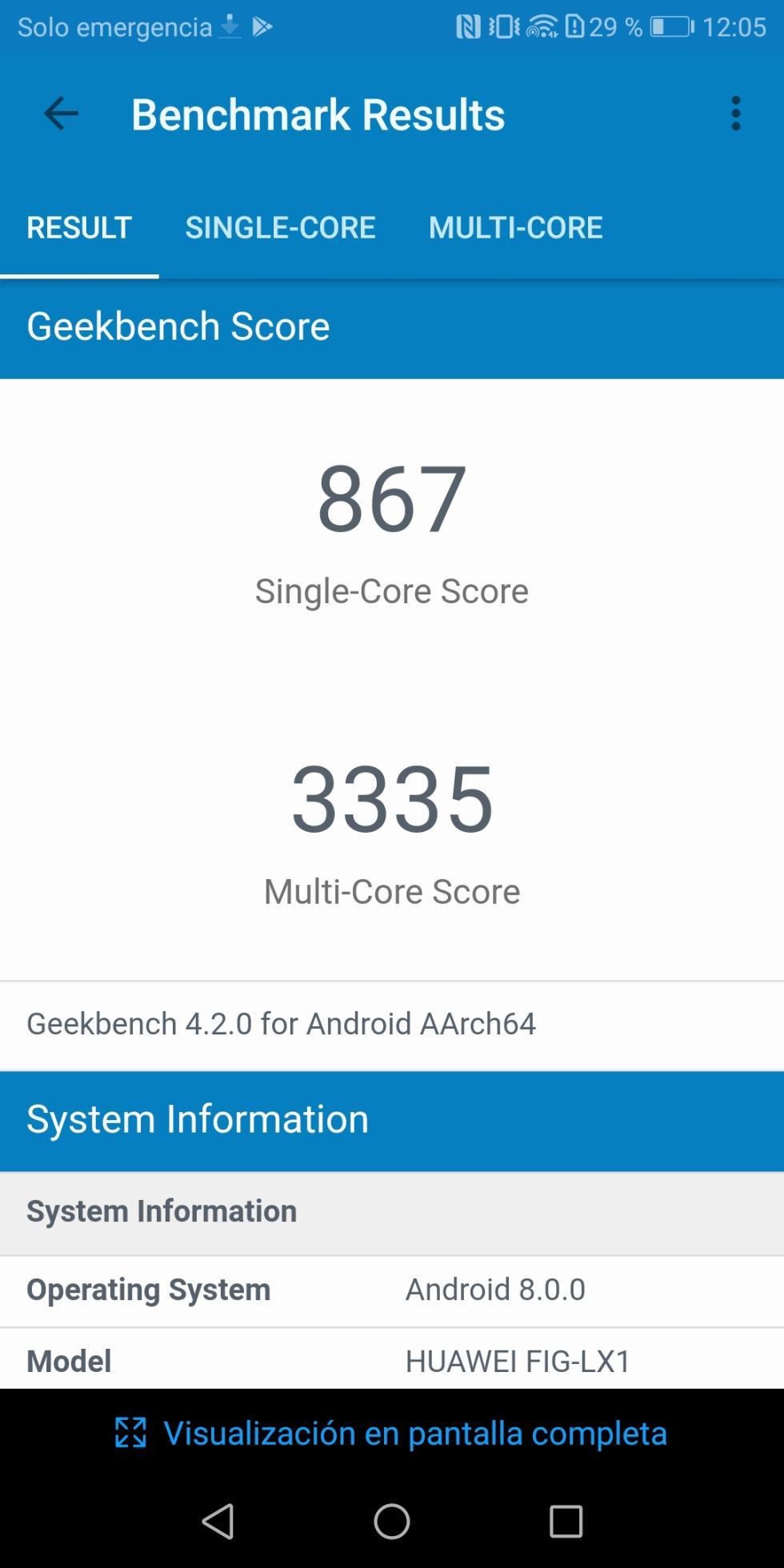Benchmarks Huawei P smart