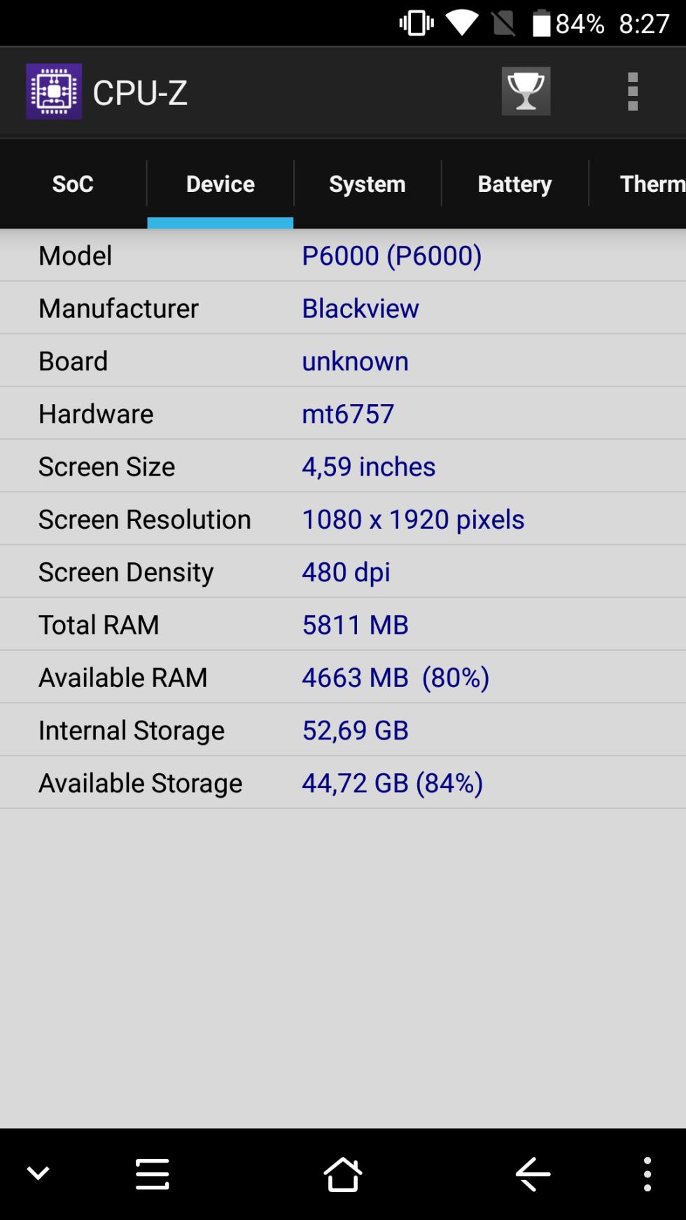 BlackView P6000 - Benchmarks