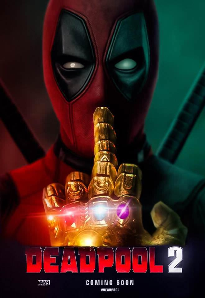 Deadpool 2 fan póster Vengadores: Infinity War