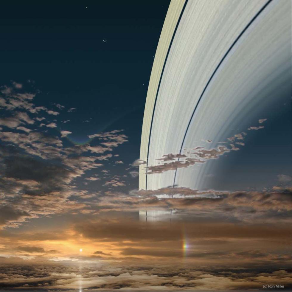 El Sol visto desde Saturno.