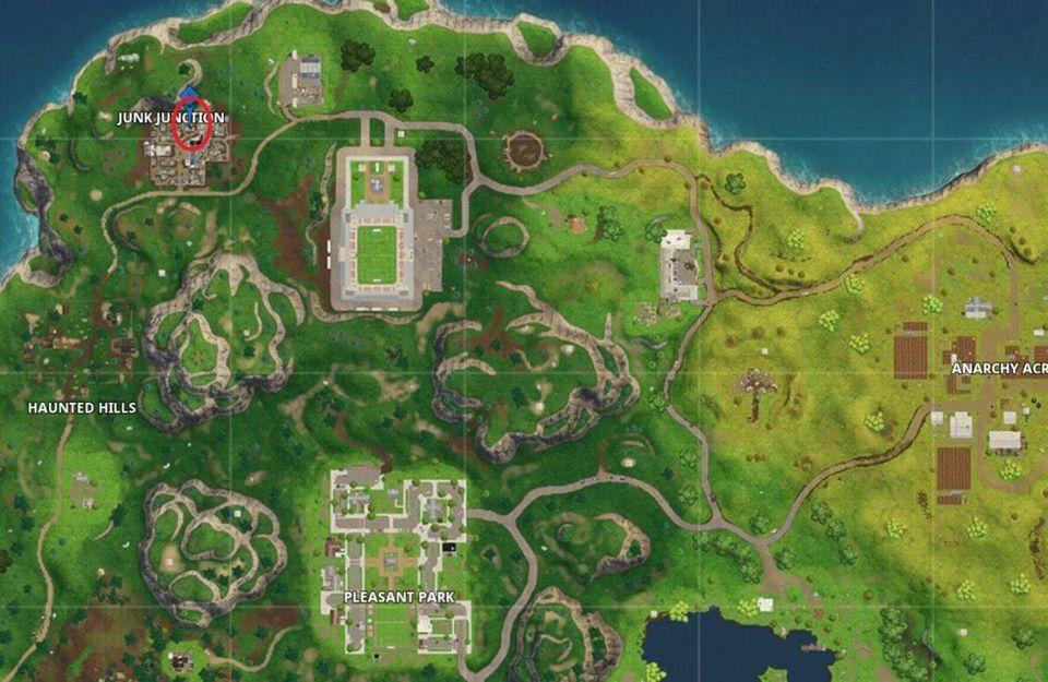mapa del tesoro de Lomas Lúgubres