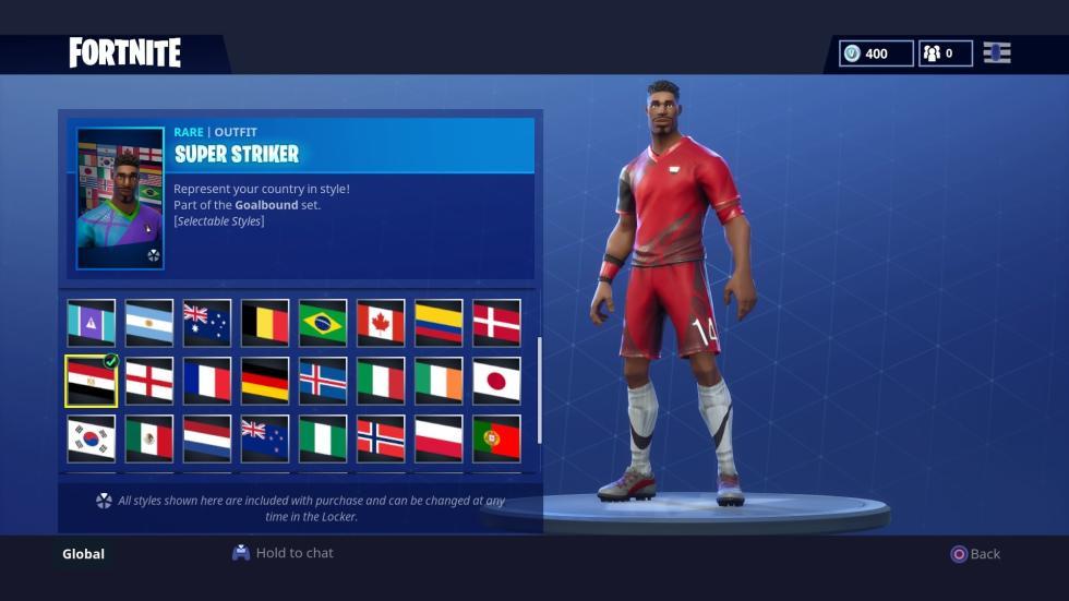 Skins Fortnite Mundial de Rusia - esports