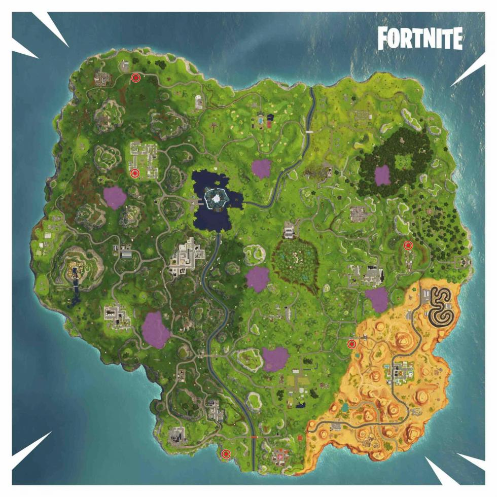 Fortnite payasos feria mapa
