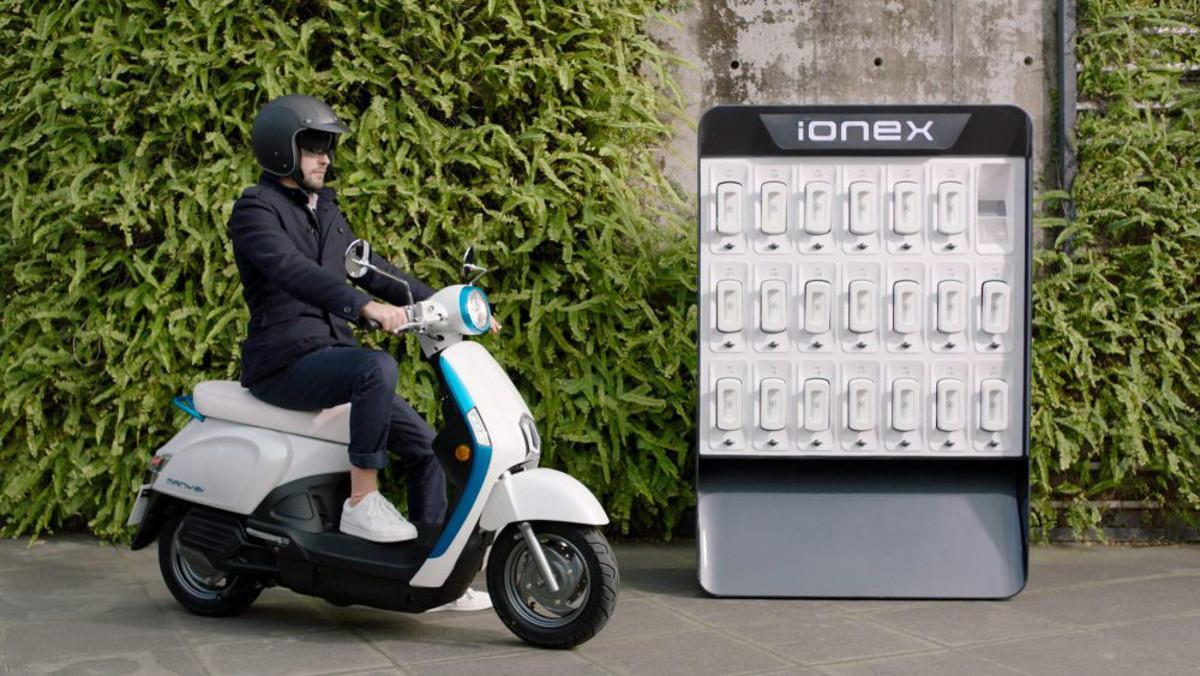 Proyecto Ionex de Kymco para motos scooter eléctricas